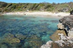 Australischer Strand, Currarong NSW lizenzfreie stockbilder