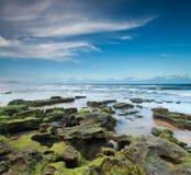 Australischer Strand an der Dämmerung Lizenzfreie Stockbilder