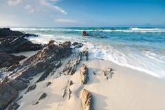 Australischer Strand in Queensland Stockbild