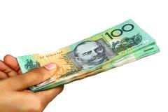Australisches Bargeld Stockfotografie