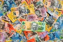 Australisches Bargeld stockfotos