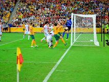 Australisches Fußball-Team Stockfotos