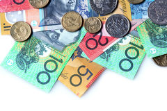 Australisches Geld Stockbild