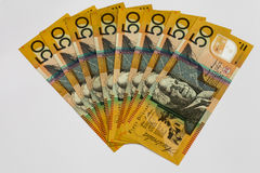 Australisches Geld $50 Dollar-Anmerkungen Stockbild
