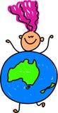 Australisches Kind lizenzfreie abbildung