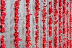 Australisches Kriegs-Denkmal in Canberra Stockfotos