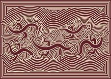 Australisches Muster Lizenzfreie Stockfotos