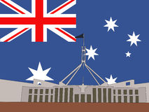 Australisches Parlamentsgebäude Stockfotos