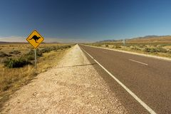 Australisches Roadsign Lizenzfreie Stockbilder