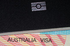 Australisches Visum und australischer Pass Lizenzfreies Stockbild