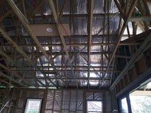 Australisches Wohnbauholz gestaltete Wohnung Stockbild