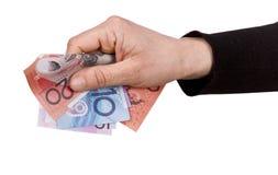 Australisk dollar Fotografering för Bildbyråer