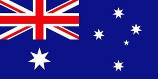 Australisk flagga, plan orientering, illustration Royaltyfri Foto