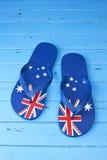 Australisk flaggaläderrembakgrund arkivbild