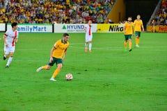 Australisk fotbollsspelare royaltyfria bilder