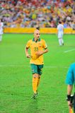 Australisk fotbollsspelare royaltyfri bild