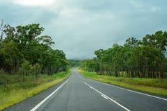 Australisk huvudväg för öppet land royaltyfri bild
