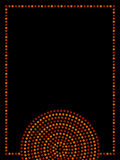 Australisk infödd geometrisk ram för koncentriska cirklar för konst i apelsinbrunt och svart, vektor Arkivfoto