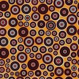 Australisk infödd sömlös vektormodell med prickiga cirklar Arkivbild