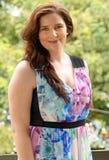 Australisk italiensk härlig ung kvinna för stående royaltyfri bild