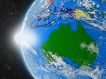 Australisk kontinent från utrymme vektor illustrationer