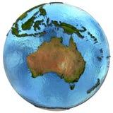 Australisk kontinent på jord stock illustrationer