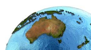 Australisk kontinent på jord vektor illustrationer