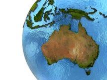 Australisk kontinent på jord royaltyfri illustrationer