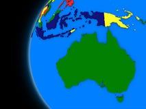 Australisk kontinent på politisk jord vektor illustrationer