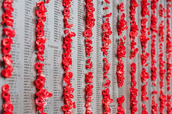 Australisk krigminnesmärke i Canberra Arkivfoton
