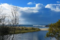 Australisk lagun för kustlinjeHallidays punkt Arkivbilder