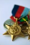 Australisk militär medalj Arkivbild