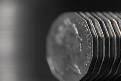 Australisk myntbakgrund Royaltyfri Fotografi