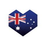 australisk symbol för flaggahjärtaabstrakt begrepp Royaltyfri Fotografi