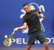 Australisk tennisspelare Nick Kirgios Arkivfoto