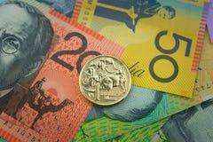 Australisk valuta Fotografering för Bildbyråer