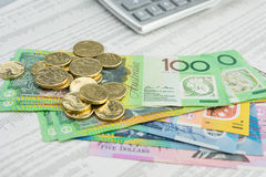 Australisk valuta Arkivbild