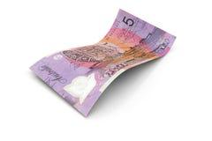 5 australiska dollar anmärkning Royaltyfria Bilder