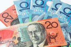 Australiska dollar valuta Arkivfoton