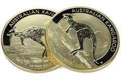 Australiska guld- mynt Royaltyfria Foton