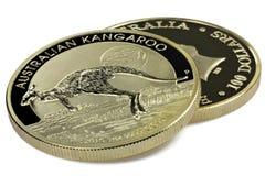 Australiska guld- mynt Arkivbild
