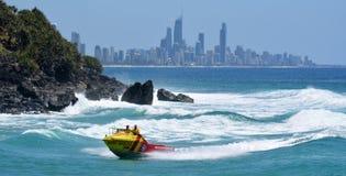 Australiska livräddare i Gold Coast Queensland Australien Arkivbilder