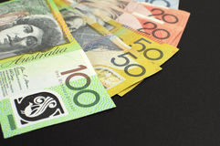 Australiska pappers- pengar - med kopieringsutrymme Arkivfoton