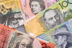 Australiska pengar, en bakgrund Royaltyfria Bilder