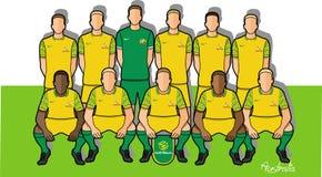 Australiskt fotbollslag 2018 Stock Illustrationer
