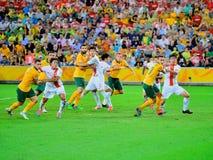 Australiskt fotbollslag fotografering för bildbyråer