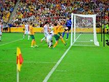 Australiskt fotbollslag arkivfoton