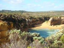 Australiskt havlandskap Arkivfoton