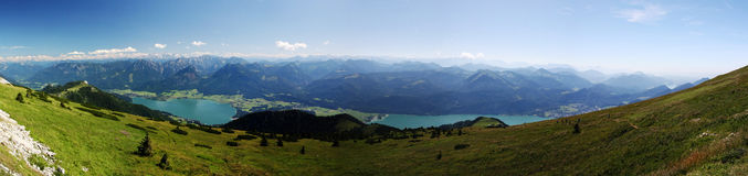 Austria. A panoramic photo of a lake in the mountains (alps stock photo