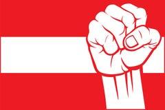 Austria. Fist, flag of Stock Photos